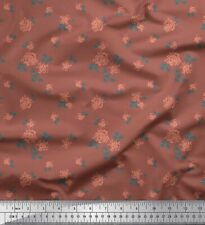 Soimoi Fabric Leaves & Rose Floral Printed Craft Fabric by the Yard - FL-1730D