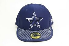 Dallas Cowboys New Era 59FIFTY Sideline FITTED CAP Honeycomb FLAT BRIM Sizes