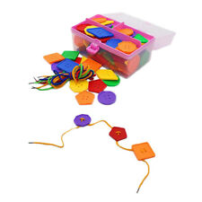 Building Blocks Geometric Threading Early Education Puzzle Toys Colorful