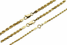 "14k Yellow Gold 2mm-3mm Italy Rope Chain Twist Link Necklace 16""-30"""