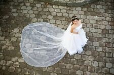 Wedding Veils Cathedral Length 3 Tier Bridal Illusion