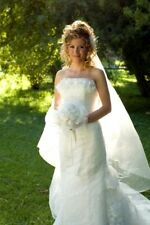 Wedding Veils Chapel Length 1 Tier Bridal Illusion Custom Made $81.00 to $408.00