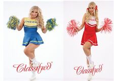 FANCY DRESS CHEERLEADERS OUTFIT 2 PIECE FITS 8-18