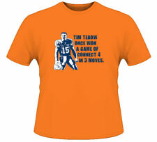 Tim Tebow Football Connect Four Quote T Shirt Orange