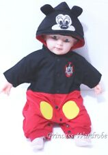 Baby Black Mickey Toddler Outfit Halloween Present Costume Girl Romper NB-18M