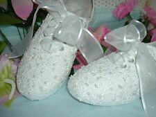 "Wedding Shoes Sneakers ""PAM"" Beaded Floral"