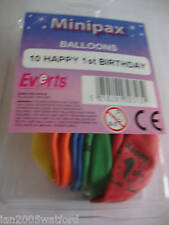 2 Packs of 10 Air Fill  Birthday Balloons ages 1-17