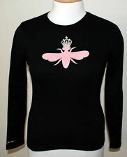 MY FLAT IN LONDON BLACK L/S T-SHRT PINK QUEEN BEE BNWT
