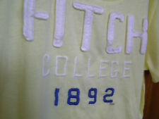 Abercrombie & Fitch M Yellow Fitch U T-shirt NEW $30 Women