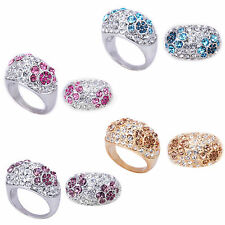 Any 2 Dome Style Floral Cocktail Rings Size 6 7 8 9 10