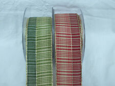 Ribbon,Wired,Silver,Red/Gold,Green/Gold, 2,3 or 4 metre