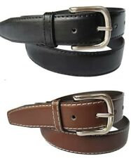 Men's Black or Brown Dress Belt Genuine Leather Mens