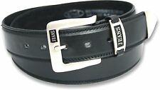 NEW MENS BLACK LEATHER LINED BELT STYLE 5055 SIZE 32-48