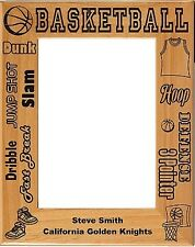 Personalized laser Engraved Basketball Picture Frame