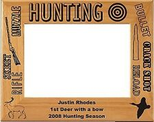 Personalized laser Engraved Wood Hunting Picture Frame