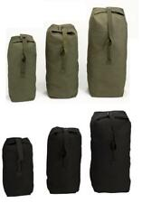 Heavyweight Top Load Canvas Duffle Bag - Military Army