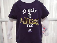"""NWT MLB Adidas Little Kids """"My First Padres Tee"""" - 4-7"""