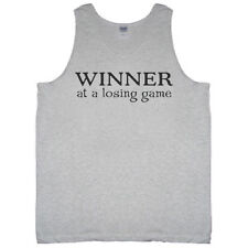 Winner at a Losing Game Funny Tank Top Sleeveless Tee