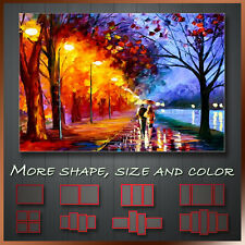 RED AFTER RAIN ABSTRACT WALL ART BOX CANVAS MORE SIZE
