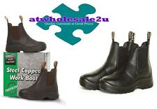 NEW STEEL CAPPED Work Safety Elastic sided Boots 3 - 13