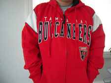 NWT NFL Tampa Bay Buccaneers Mens Full Zip Hooded Sweatshirt - Sizes S - 2XL