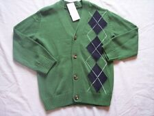 NWT Boy's Gymboree Spring Social Golf Pro green button up sweater ~ 5 6 7 8