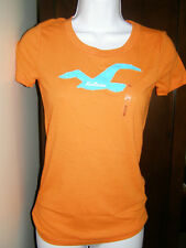 Hollister Women applique T-Shirt  S  L Asstd Colors NEW sizing in description !