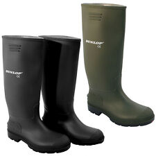 NEW ADULTS RUBBER DUNLOP WELLINGTONS WELLIES SNOW BOOTS SHOES MENS LADIES BOYS