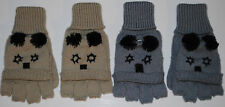 1x BNWT Knitted Panda Animal Fingerless Gloves Mittens