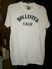 Hollister T-shirt Mens M L White or Gray NEW Embroidery Surf Beach shirts
