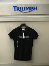 GENUINE Triumph Ladies Triumph Logo 2 T Shirt Black 50% OFF RRP