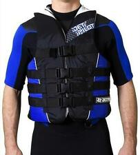 JetPilot STRIKE Nylon PWC Buoyancy Aid PWC blue 4 buckle vest, XS to XL. 46875