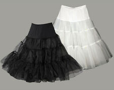 "26"" Black or white Lady 50's PROM Underskirt Rock n' Roll Petticoat / TUTU"