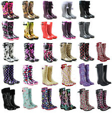 Ladies Wellington Festival Rain Snow Wellies Women's Flat Boots UK 3 4 5 6 7 8