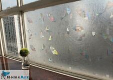 """Decorative Privacy 3D Laser Static Glass Window Film Abstract Geometry 35""""GW-034"""