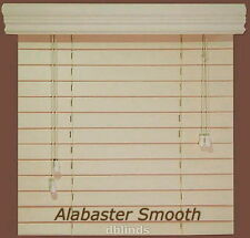 """Fauxwood Window Blinds -Size- 35"""" x 48"""" - 5 Beautiful Color Choices"""