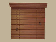 "2"" Fauxwood Window Blinds - 48"" X 48"" - Real Wood Look 4 Less - Free Shipping"