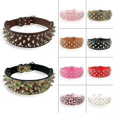 Spiked Studded PU Leather Dog Collars for Pitbull Boxer German Shepherd