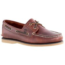 Men's Timberland Classic 2 Eye Boat Shoe Brown Root Beer Smooth 25077