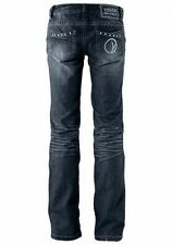 LM°43 JEANS VON YOUTH AGAINST LABELS IN DARK BLUE USED NEU