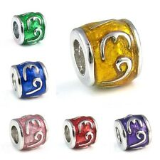 Symbol Sign Silver European Spacer Charm Bead For Bracelet Necklace