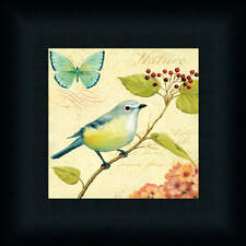 Nature Garden Passion III Bird Butterfly French Framed Art Print Wall Decor
