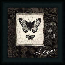 The Greatest Gift of All is Love Butterfly Sign Framed Art Print Wall Décor