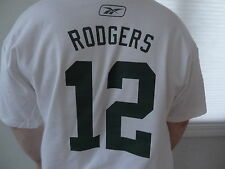 New NFL Men's Reebok Green Bay Packer's Aaron Rodger's Tee Shirt