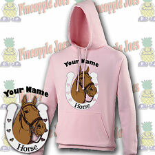 Horse/Pony Hoodie with personalised Horse/Pony name and Horse/Pony rider name