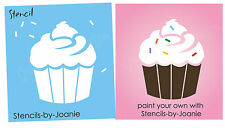 STENCIL Cupcake Sprinkles Chic Shabby French Bakery Decor Advertise Craft Signs