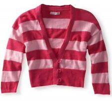 Aeropostale Pink Stripe Womens Dolman Sleeve Cropped Cardigan Sweater M L XL XXL