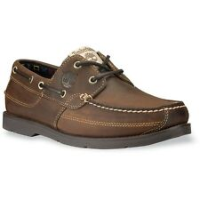 Mens Timberland Earthkeepers Kia Wah Bay Boat Shoe Taupe Distressed Leathe 5232R