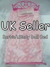 LOVELY BARBIE SINDY DOLL FURNITURE BED IN 2 COLOURS PINK OR PURPLE UK SELLER