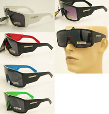 New Large Goggle Style Shield Wrap Biohazard Mens Celebrity Sunglasses Shades